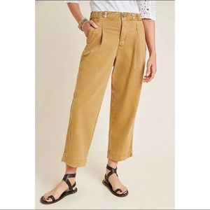 Anthropologie Slouched Crop Trousers